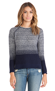 LOMA Polina Ombre Sweater in Navy & Calico