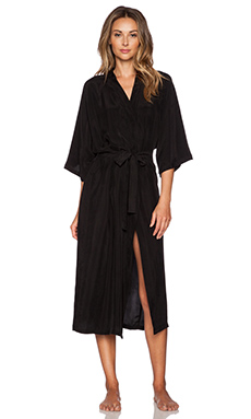 Lonely Long Robe in Black