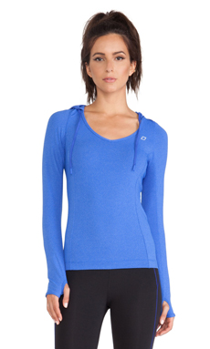 Lorna Jane Catalina Hooded Excel Top in Yves Blue Marl