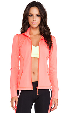 Lorna Jane Influence Excel Zip Through in Fluro Orange
