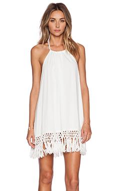Lost in Alila Malibu Tassel Dress in White