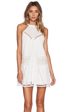Lost in Alila Rise & Shine Mini Dress in White