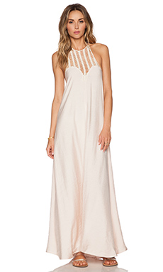Lost in Alila Sundown Maxi Dress in Blush