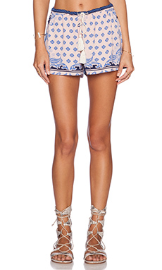 Lost in Alila Gypsy Short in Pastel Paisley