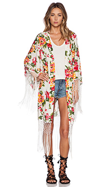 Le Salty Label Sunny Isles Kimono in Floral