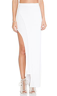 Le Salty Label Liloh Asymmetric Maxi Skirt in White