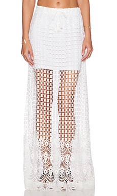 Le Salty Label Kindered Spirit Maxi Skirt in White