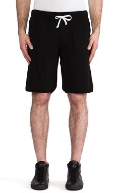 lot78 Cashmere Blend Sweatshort in Black