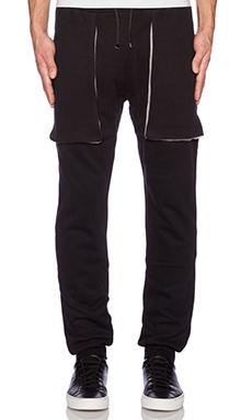 lot78 Basic Sweatpant in Black & Light Grey
