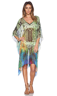 Lotta Stensson Mid Length Poncho in Reptile Rainbow