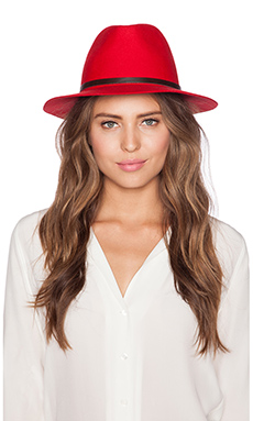 Lovely Bird POP Fedora in Red