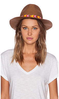 Lovely Bird San Miguel Multi Friendship Wrap Hat in Camel