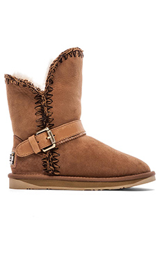 Australia Luxe Collective Dixie Boot with Sheep Shearling in Chestnut