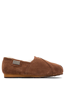 Australia Luxe Collective Loaf Flat with Sheep Shearling in Chestnut
