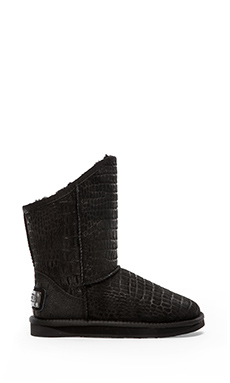 LUXCLUSIVE by Australia Luxe Collective Cosy Short Boot in Crocodile Black