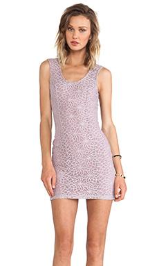 Lovers + Friends Au Natural Dress in Lavender Lace