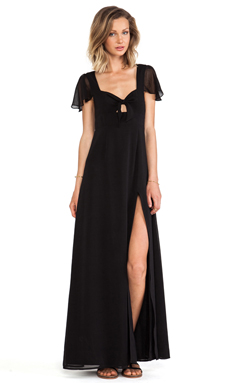 Lovers + Friends The Keeper Maxi Dress in Black