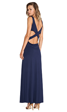 Lovers + Friends Stay Late Maxi Dress in Sapphire