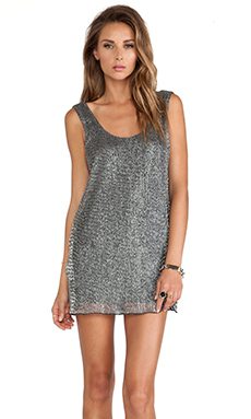 Lovers + Friends Nova Dress in Charcoal