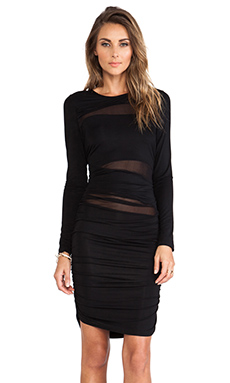 Lovers + Friends Tell Me Body Con Dress in Black
