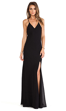 Lovers + Friends Maybe Tomorrow Maxi Dress in Black
