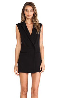 Lovers + Friends Black Tie Dress in Black
