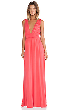 Lovers + Friends Helena Maxi Dress in Coral