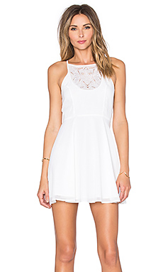 Lovers + Friends Catalina Fit & Flare Dress in Ivory
