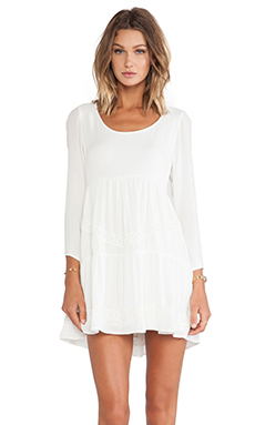 Lovers + Friends Dreamy Babydoll Dress in Ivory