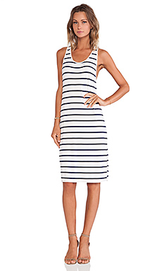 Lovers + Friends Swept Away Dress in Navy Stripe