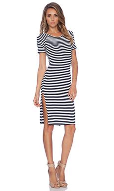 Lovers + Friends Hannah Midi Dress in Navy Stripe
