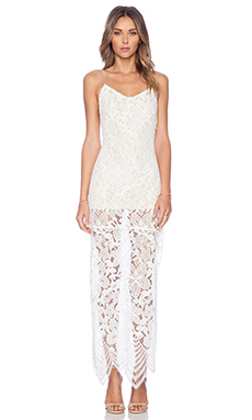 Jhene Aiko for Lovers and Friends Reflection Maxi Dress in White