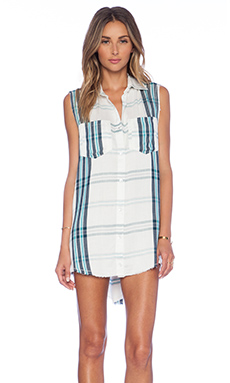 Lovers + Friends x REVOLVE Low Down Dress in Evergreen Open Plaid