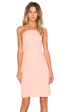 Lovers + Friends Nina Midi Dress in Peach Daquiri