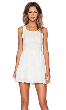 Lovers + Friends Secret Crush Babydoll Dress in Ivory
