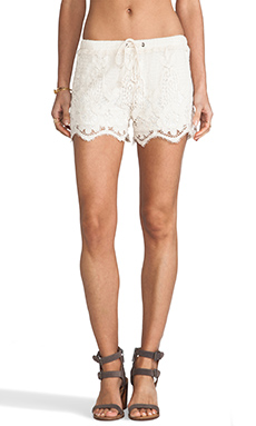 Lovers + Friends Adore Short in Natural Lace