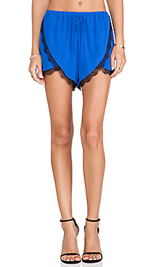 Lovers + Friends Young Romance Short in Cobalt