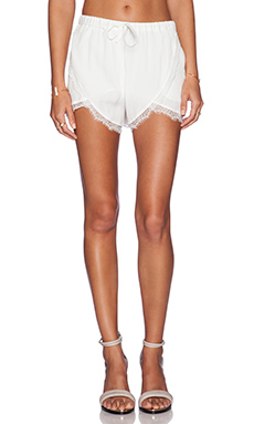 Lovers + Friends Young Romance Shorts in Ivory