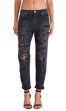 Lovers + Friends Jeremy High Waisted Boyfriend Jean in Warner