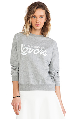 Lovers + Friends Laidback Pullover in Heather Grey