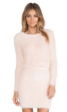 Lovers + Friends Dolly Sweater in Powder Pink