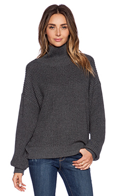 Lovers + Friends Alexa Sweater in Charcoal