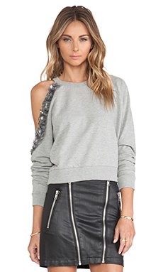 Lovers + Friends Belfort Pullover in Heather Grey