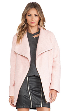Lovers + Friends Merci Coat in Powder Pink