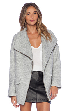 Lovers + Friends x REVOLVE Merci Coat in Light Grey