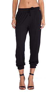 Lovers + Friends Smocked Trouser in Black
