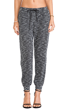 Lovers + Friends Smocked Trouser in Marled