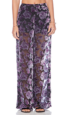 Jhene Aiko for Lovers and Friends Maxene Flares in Floral Burnout Velvet