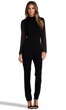 Monica Rose for Lovers + Friends Maxfield Jumpsuit in Black