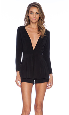 Lovers + Friends Love Always Romper in Black